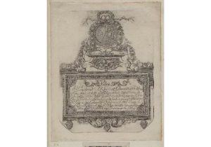 cartão de visita século xvii